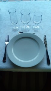 assiette ronde blanche