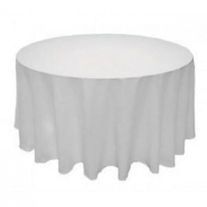 table ronde 180cm avec nappe